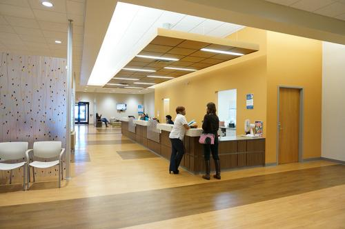 photo of the inside check-in area at SIHF Healthcare